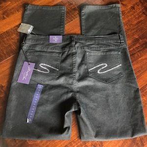 NYDJ Jeans - NYDJ Straight Black Denim Jeans Sz 16 NWT